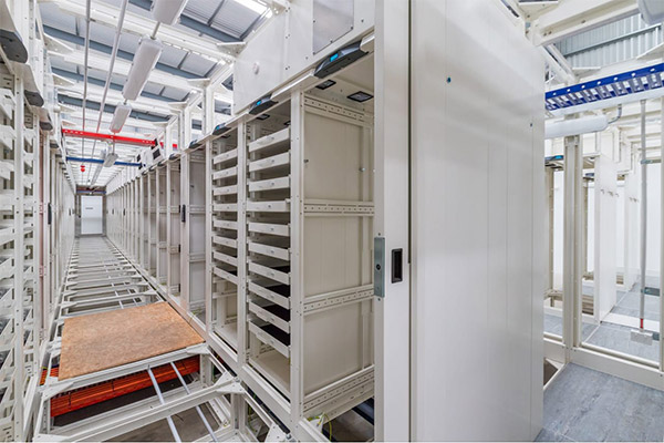 The existing data centre frame work interior