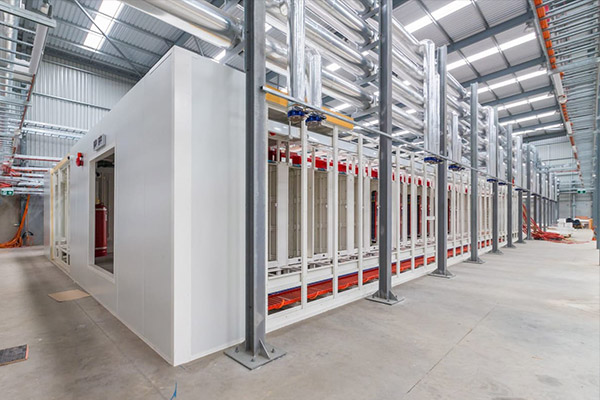 The existing data centre frame work and cooling pipes