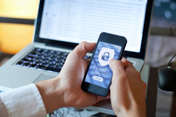 Secure password on devices such as phones and laptops