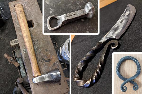 A sample of the blacksmith art Heather has created